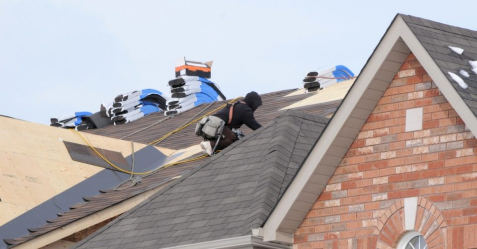 For Collins Roofing on the job